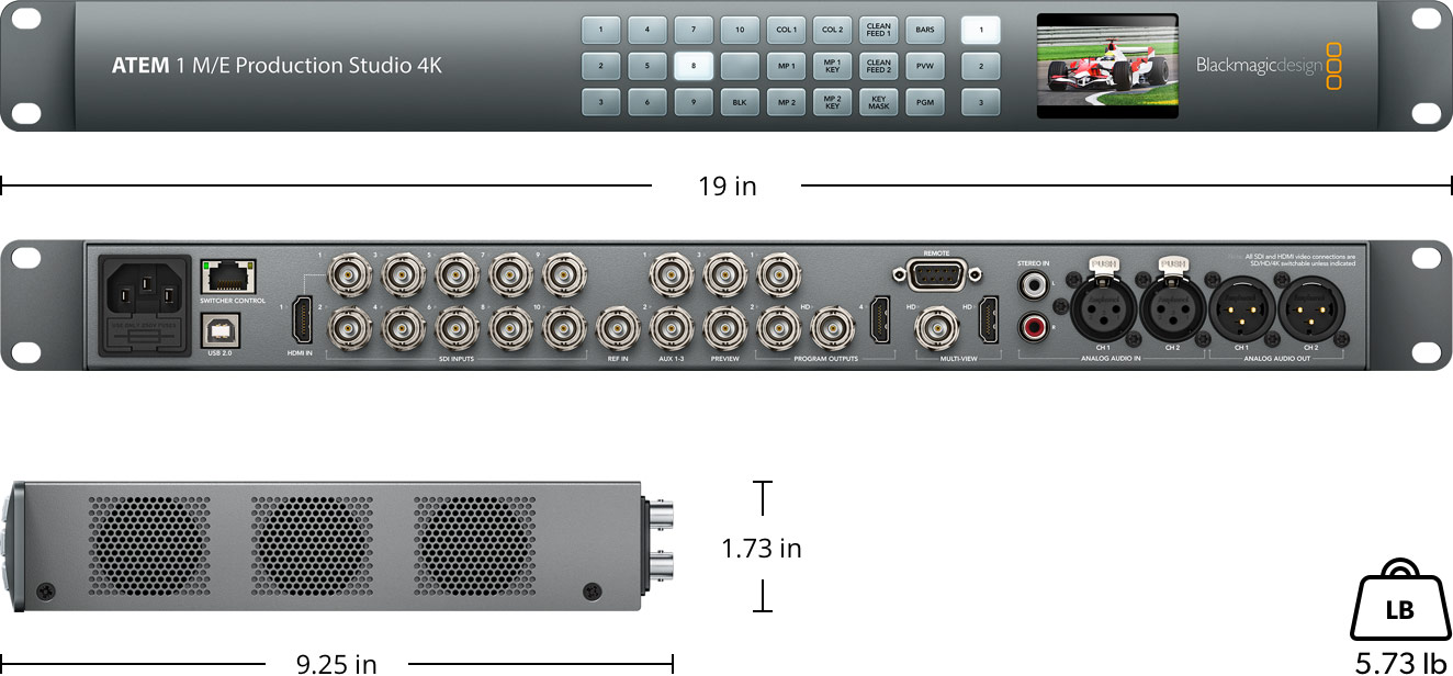 ATEM 1 M/E Production Studio 4K