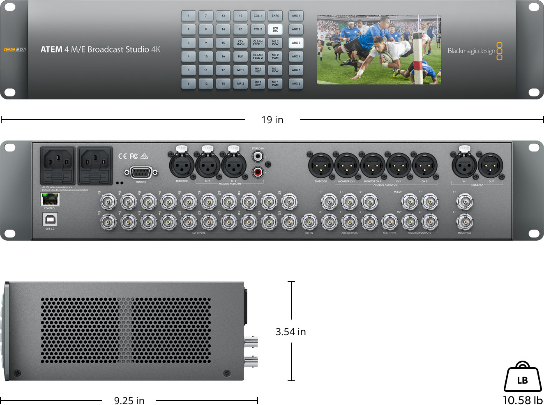 ATEM 4 M/E Broadcast Studio 4K