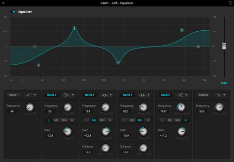 Audio equalizer screenshot
