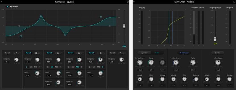 ATEM Software Audio Mixer screens