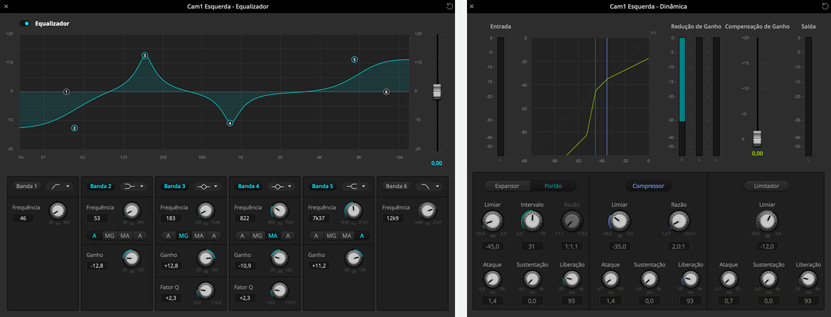 ATEM Software Audio Mixer screens