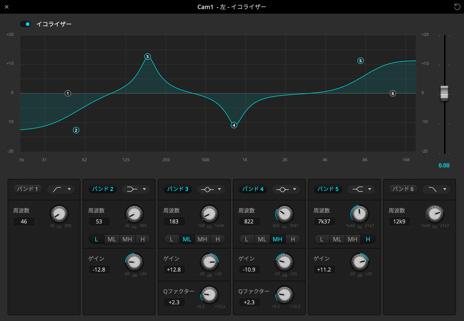 Audio equalizer screenshot