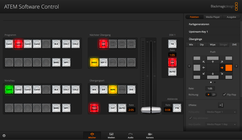 Full virtual switcher control panel!