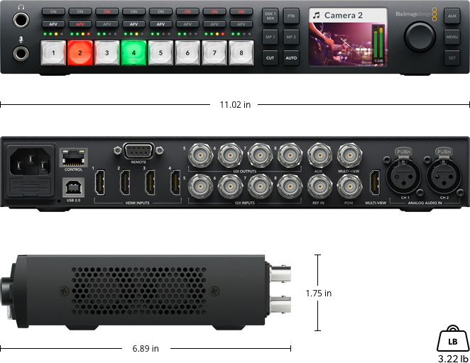 Atem Television Studio Tech Specs Blackmagic Design