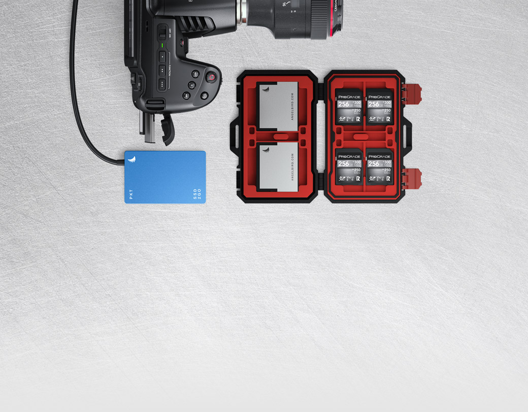 SD cards, UHS-II Cards or CFast 2.0 Media