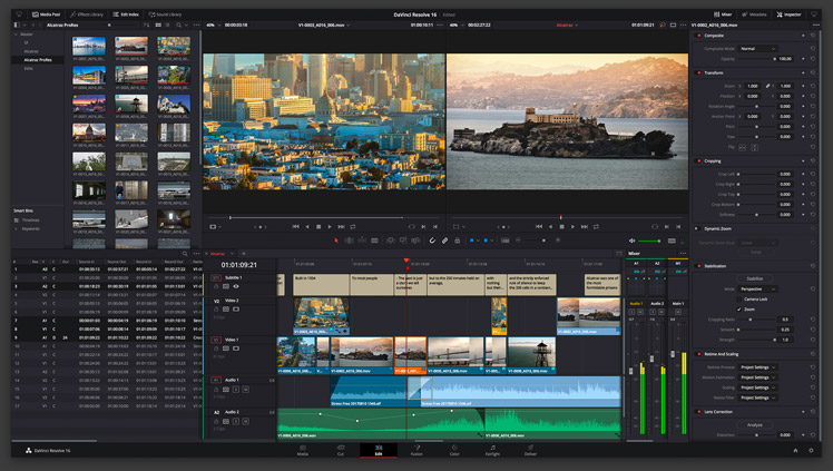 Includes DaVinci Resolve Studio