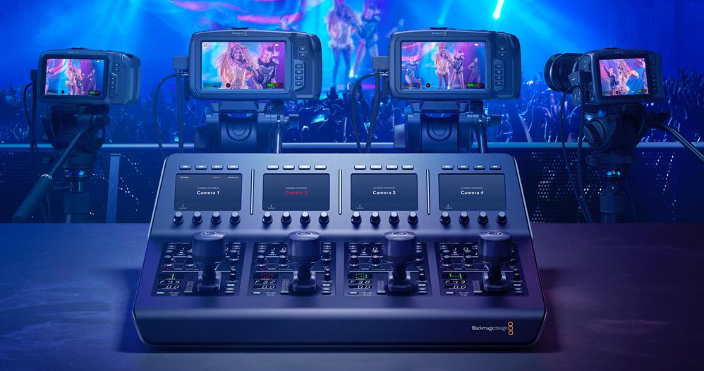 ATEM Camera Control Panel controlling 4 cameras