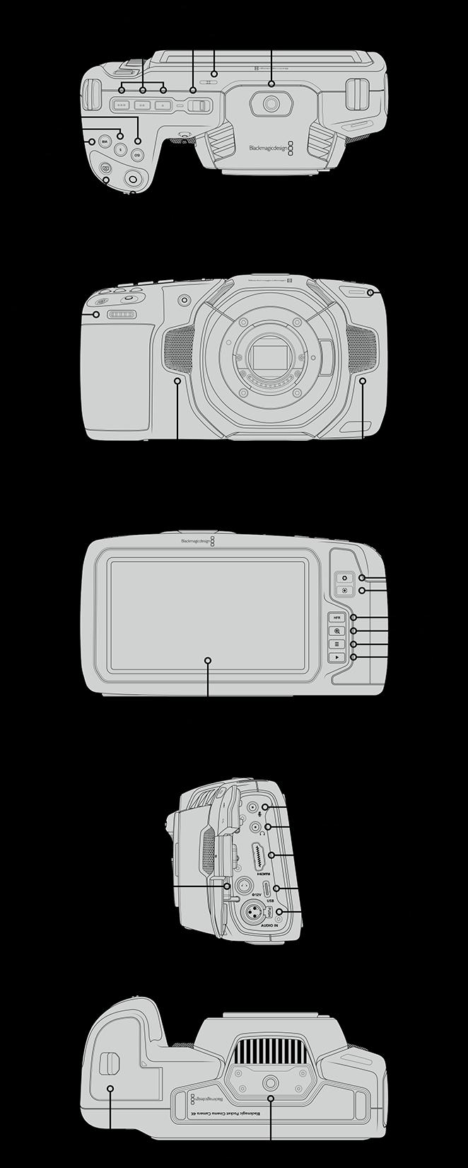 Blackmagic Pocket Cinema Camera 4K Connections