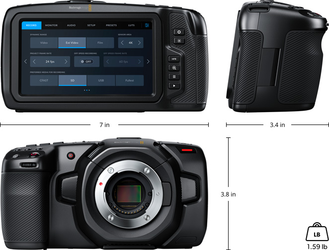 Blackmagic Pocket Cinema Camera 4K - OPEN BOX Connections