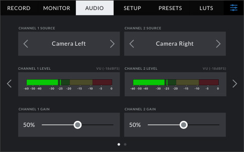 Audio Inputs and Monitoring