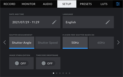 Central Control for Camera Settings