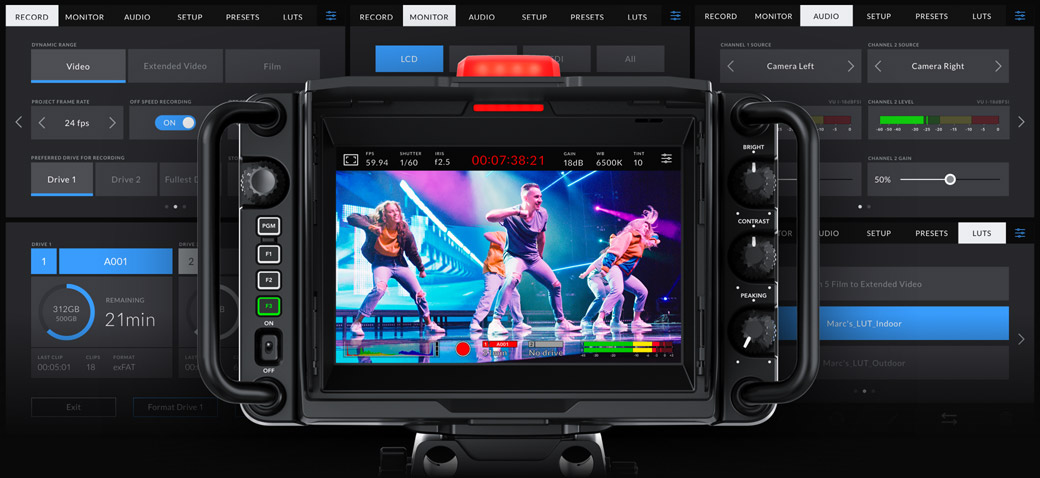 Powered by Blackmagic OS