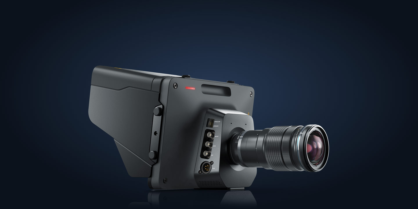 three quarter view Blackmagic Studio Camera