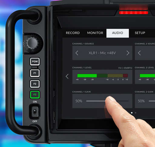 Physical and Touchscreen Controls