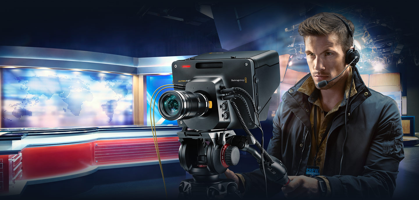 live production illustration with the Blackmagic Studio Camera