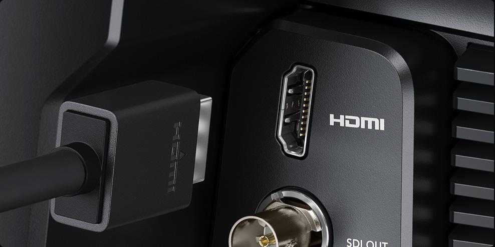 Connect via HDMI