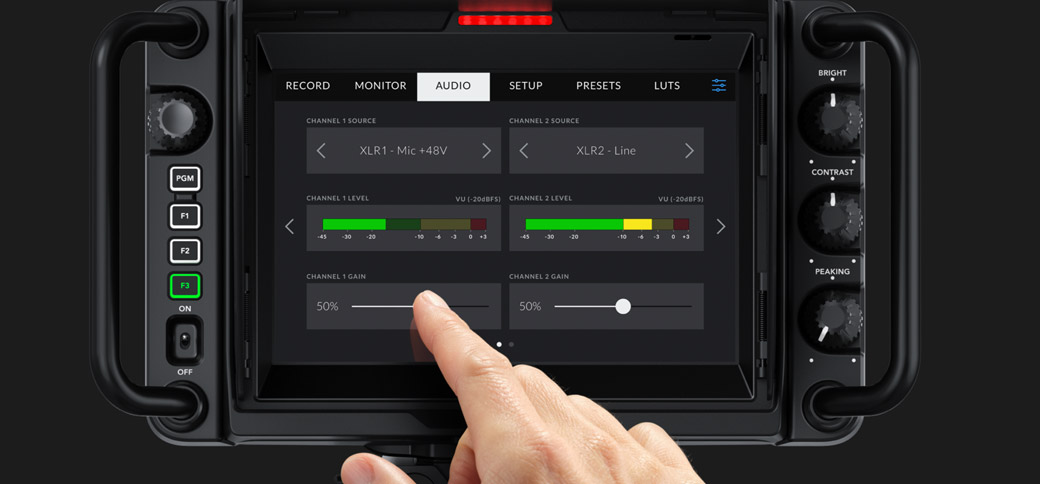 Touchscreen and Manual Controls