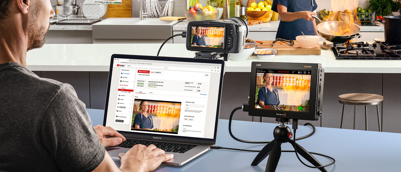 Outputs to USB Webcam for Live Streaming
