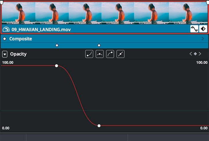 Customize animations in the timeline curve editor