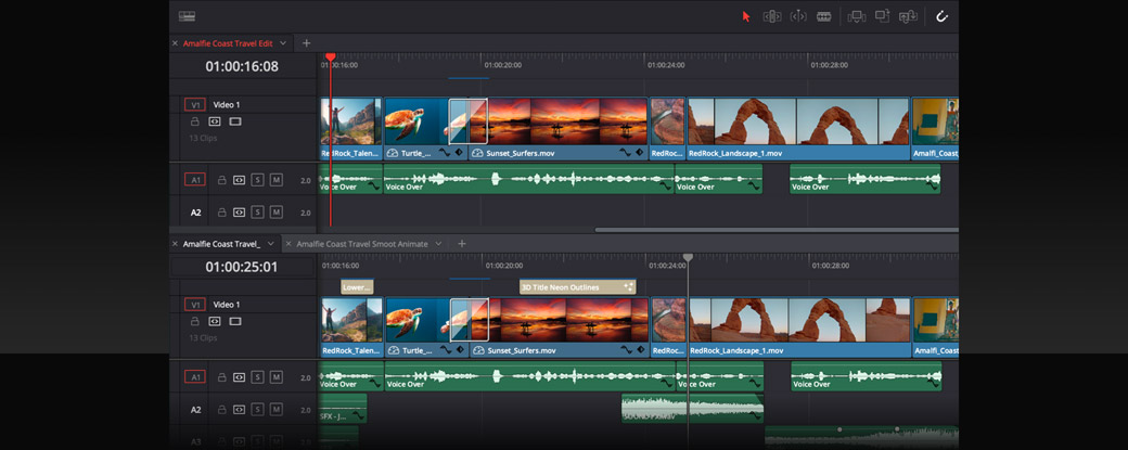 Work with multiple timelines at once!