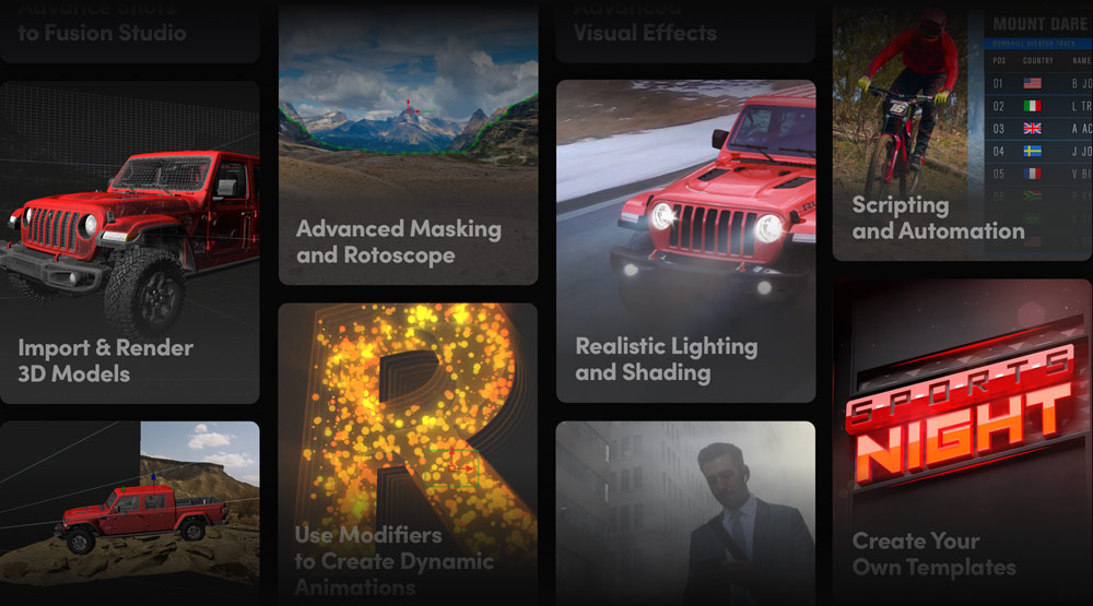 Advanced Visual Effects and Motion Graphics Tools