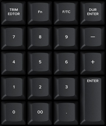 Direct Timecode Entry Keypad