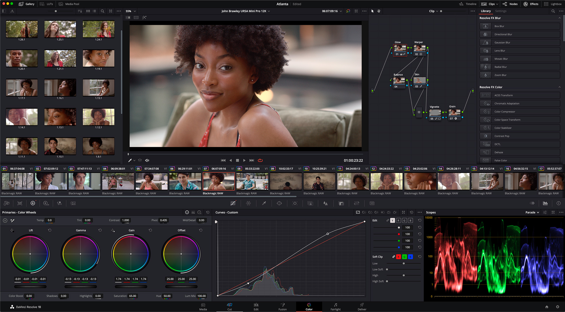 DaVinci Resolve 17 Color Page