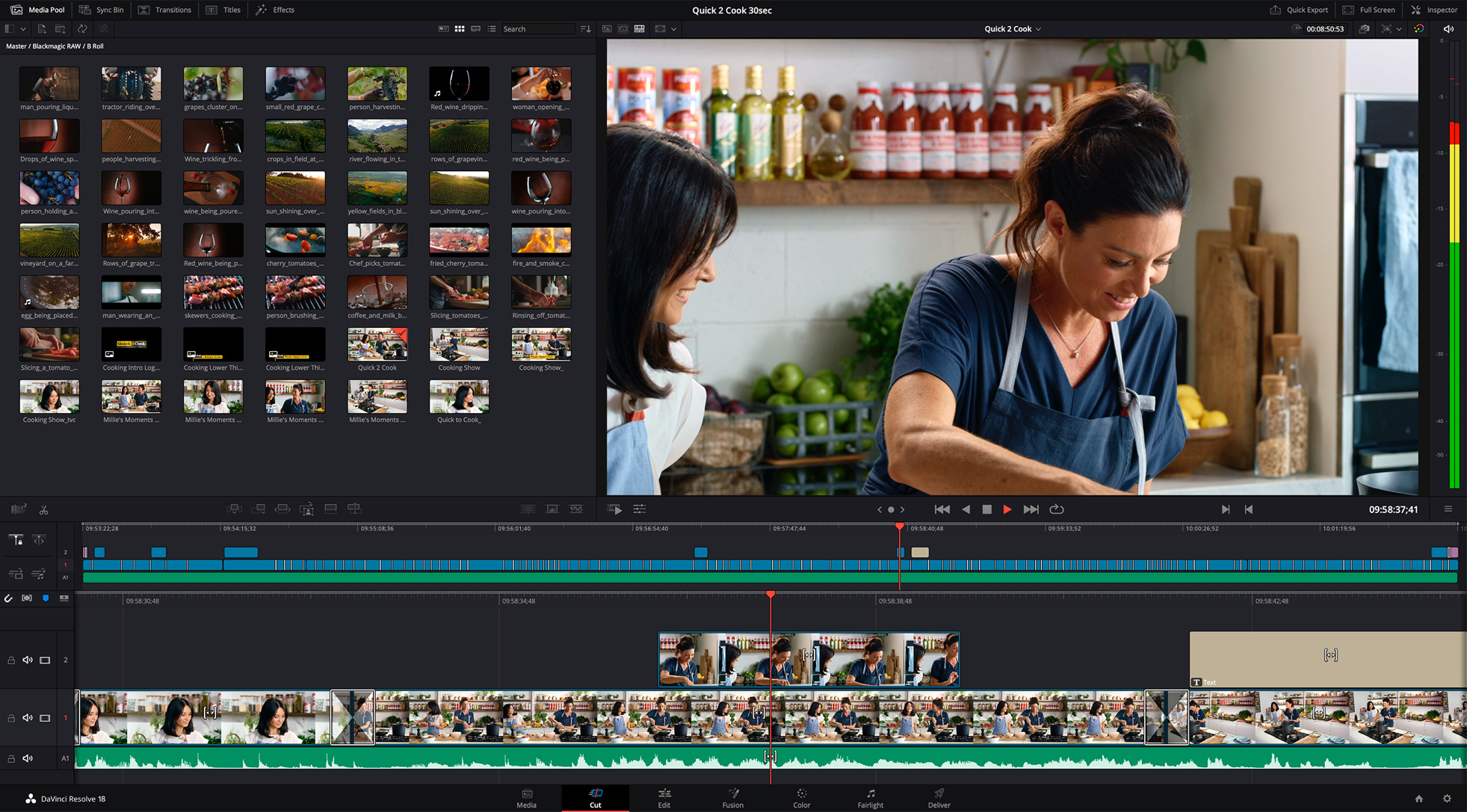 DaVinci Resolve 17 Cut Page