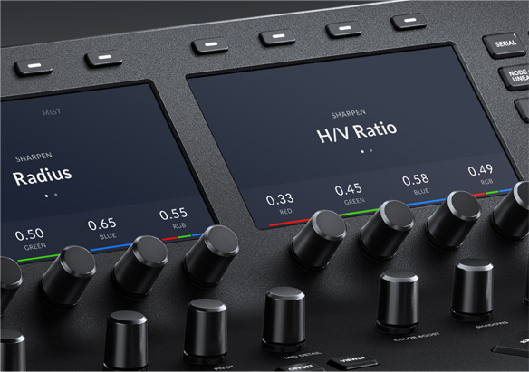 Customizable Soft Knobs on DaVinci Resolve Advanced Panel
