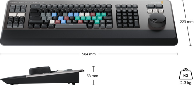 DaVinci Resolve Editor Keyboard