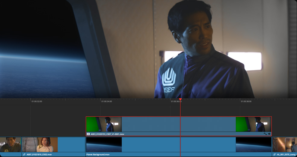 Timeline Keying and Compositing