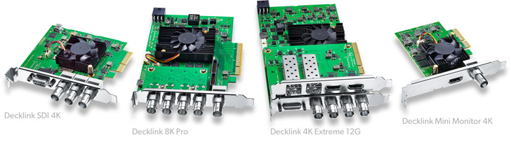 DeckLink capture cards