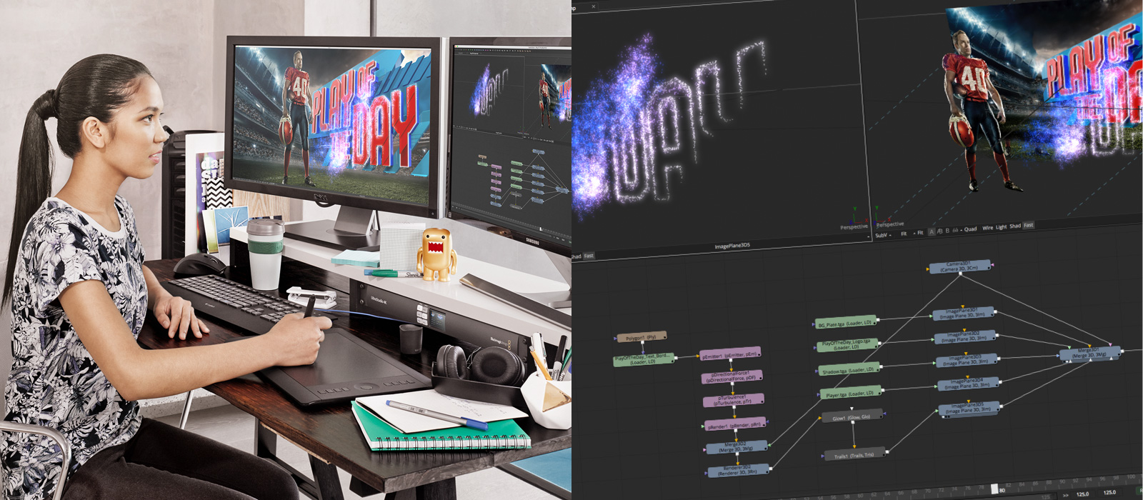 Broadcast design and motion
