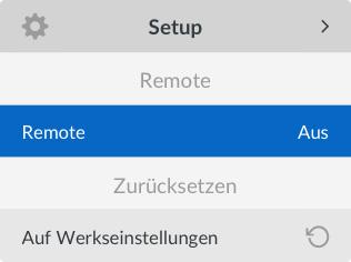 Remote Light UI Screen