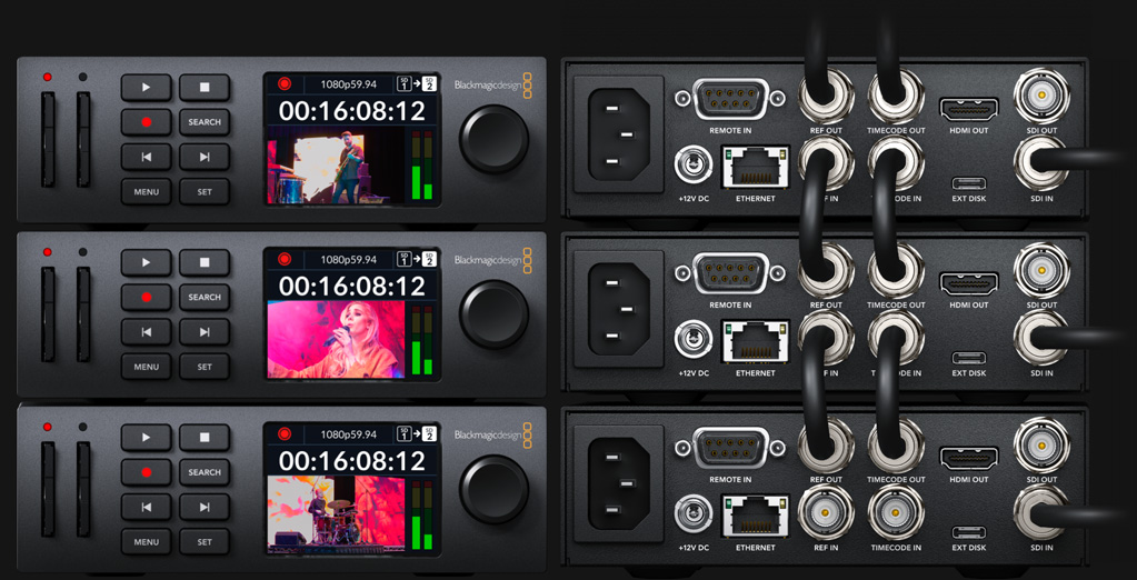 Built in Timecode and Sync Generators