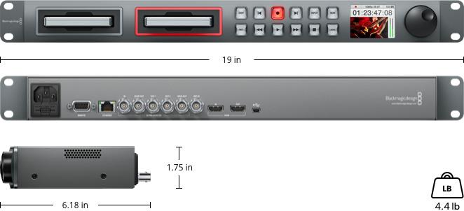دیسک رکوردر بلک مجیک Blackmagic Design Disk Recorder Hyper Deck Studio 2
