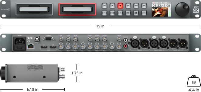 دیسک رکوردر بلک مجیک Blackmagic Design Disk Recorder Hyper Deck Studio pro 2