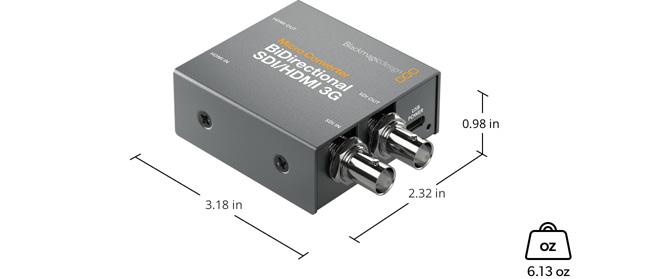 Micro Converter BiDirectional SDI/HDMI 3G wPSU