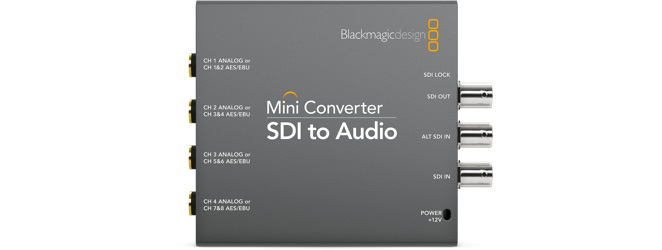 Mini Converter SDI to Audio