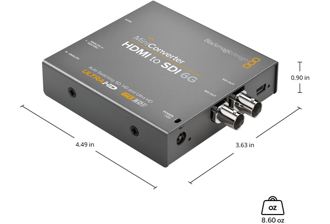 Mini Converter HDMI to SDI 6G