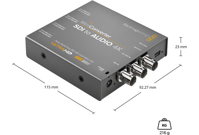 Mini Converter SDI to Audio 4K