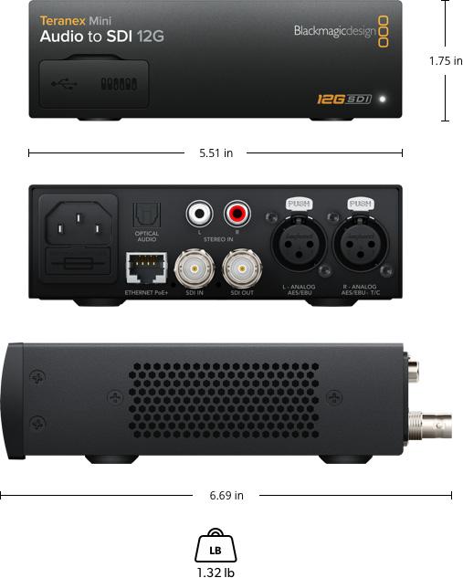 Teranex Mini - Audio to SDI 12G