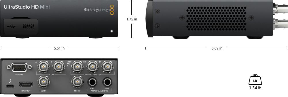 Ultrastudio Tech Specs Blackmagic Design