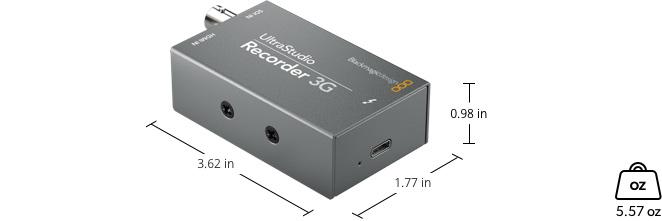 UltraStudio Recorder 3G Dimensions